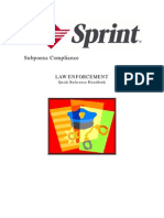 Sprint Subpoena Manual