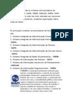 Sistemas Estruturadores Do Governo Federal