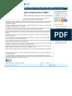 21-07-13 EL 30% DE UNIDADES DE VALUACION EN RIESGO DE PERDER SU REGISTRO