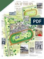 Saratoga Race Course map