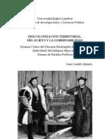 1 - 1 - Descolonización territorial del sujeto y la gobernabilidad