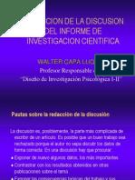 Discusion Del Informe de Investigacion