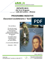 "Escursioni ecoletterarie e ""Summer School"""