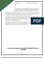 PRINCIPIOS TEOLÓGICOS REFORMADOS