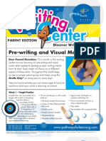 Pre-Writing and Visual Motor Skills Parent Ed