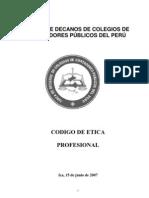 Codigo Etica Contador Modificado Peru