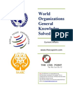 World Organizations General Knowledge MCQs