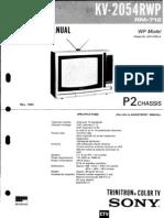 Sony KV - 2054RWP Chasis P2