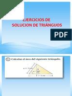 Ejercicios de Soluc de Triangulos