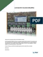 Alonso-sound Sylenth1 ReadMe