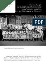 Ravaglia, Apologia Del Padiglione - Il Libro Nero della 54a Biennale di Venezia
