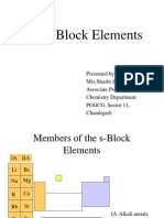 The S-Block Elements