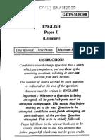 UPSC Civil Service Exam (Main) English Paper II Question Paper 2012
