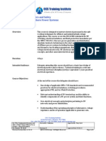 TR-CD.05_Fundamental Dynamics and Safety for HV Offshore Power Systems- Course Description