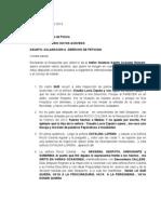 Aclaracion Derecho de Peticion Del Dia 27 de Junio Del 2013