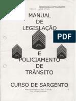Legislação e Policiamento de Trânsito (Manual)