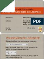 Polinomios de Legendre y Funciones Asociadas de Legendre
