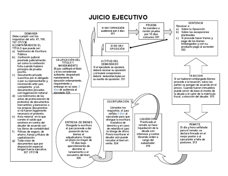 esquema juicio ejecutivo com u00fan
