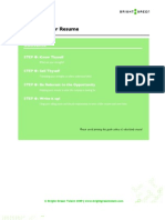 Resume Worksheet - Bright Green Talent