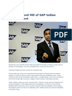 Das, CEO and MD of SAP Indian Subcontinent