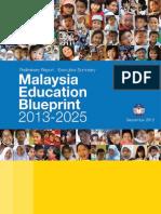 Malaysia's Preliminary Education Blueprint 2013-2025 - Executive Summary