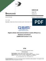 Handover GSM