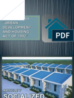 Urban Development and Housing Act of 1992 - Article 5 Report