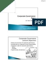 Corporate Governance I [TT-110905][1]