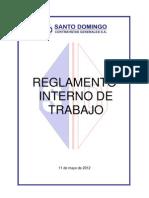 Reglamento Interno de Trabajo SD
