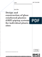 BS 7159 (1989) Design and Construction of Glass Reinforced Plastics (GRP) Piping Systems for Individual Plants or Sites