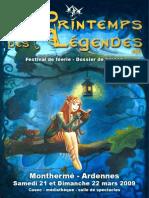 Dossier Presse Printemps Legendes2009