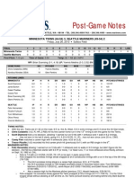 07.26.13 Post-Game Notes
