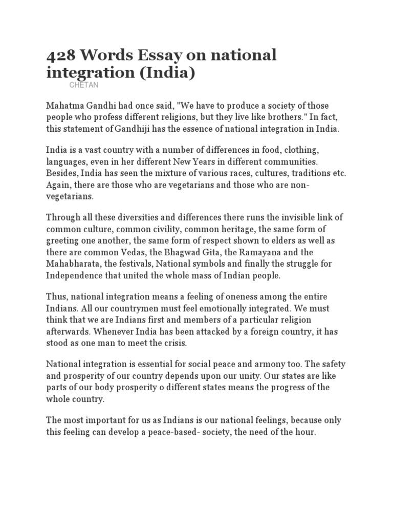 National Integration Essay Mahatma Gandhi Jainism