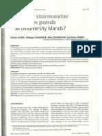 Highway Stormwater Detention Ponds as Biodiversity Islands? (Archives des Sciences 57, 2004)