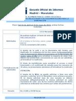 Información para la solicitud de admisión para el curso 2013-2014