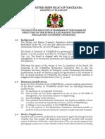 Vacancy - Board Members July 2013-1