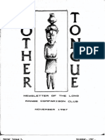 Mother Tongue Newsletter 4 (November 1987)