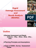 Rapid Damage Assessment and Needs Analysis
