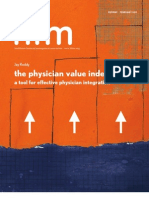 The Physician Value Index. A Tool for Effective Physician Integration.
