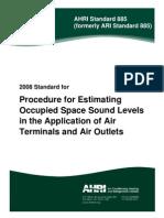 ARI Standard 885-2008