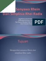 Isolasi Senyawa Rhein Dari Simplisia Rhei Radix