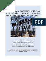 SUBESTACIÓN ELÉCTRICA PARA LA EVACUACIÓN DESDE EL PARQUE EÓLICO O LA CENTRAL REVERSIBLE