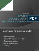 Teaching Vocabulary in ESL
