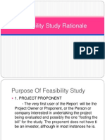 Feasibility Study Rationale