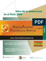 Cultura Politica de la Democracia en el Peru 2006. Julio F. Carrión, IEP 2006