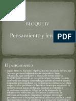 Bloque IV Procesos Psicologicos Basicos Lenguaje y Pensamiento