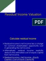 Risidual Income