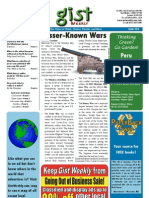Gist Weekly Issue 25 - Lesser-Known Wars