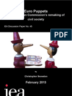 Euro Puppets. EU Commission's remaking of civil society. From the IEA.