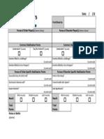 Porcindon's Fate 2013 Scorecard